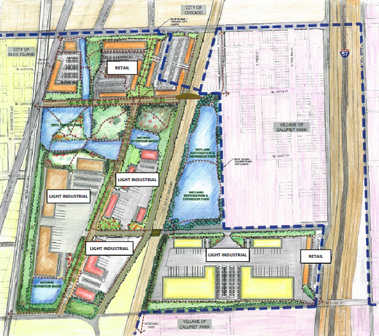 Conceptual Development Plan for NE Mixed-Use Commercial Park